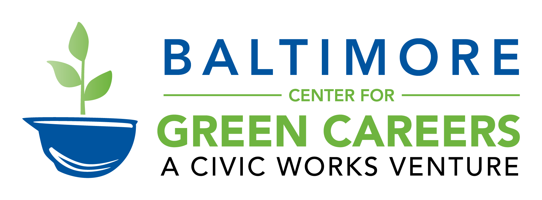Baltimore Center for Green Careers: A Civic Works Venture Logo