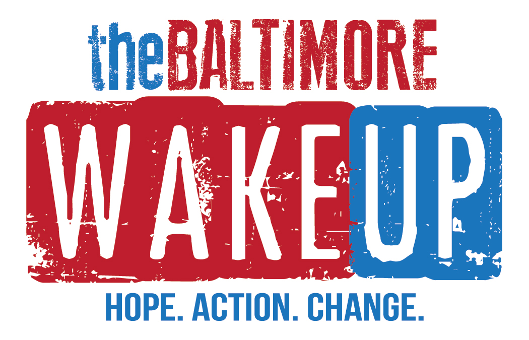 Baltimore Wake Up: A Project of ReWired for Change & Why Murder? Logo